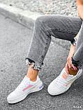 Кроссовки женские в стиле Puma белые + голографик 4286, фото 6