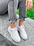 Кроссовки женские в стиле Puma белые + голографик 4286, фото 8