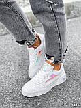 Кроссовки женские в стиле Puma белые + голографик 4286, фото 9