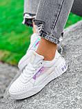 Кроссовки женские в стиле Puma белые + голографик 4286, фото 10