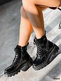 Черевики жіночі Louis чорні 4305 лак ДЕМІ, фото 9