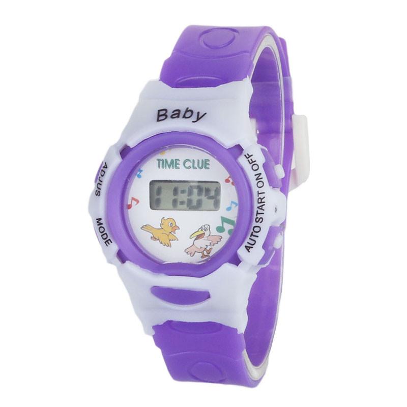 Детские электронные наручные часы Disegni violet
