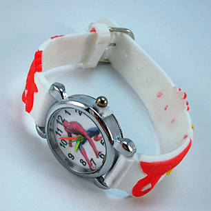 Часы детские кварцевые на каучуковом ремешке Akoni white, фото 2