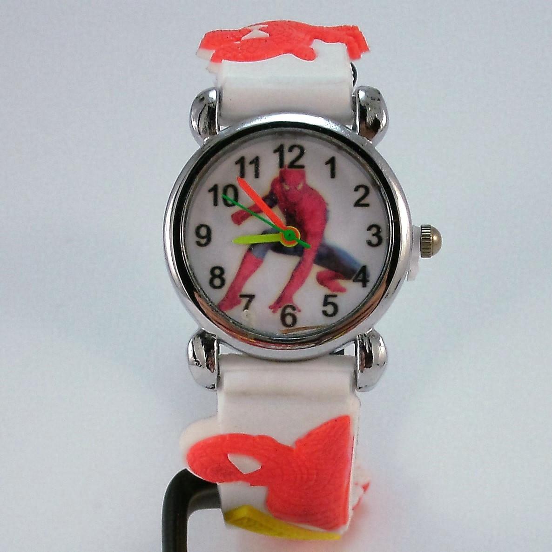 Часы детские кварцевые на каучуковом ремешке Akoni white
