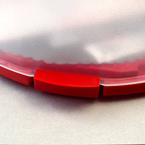 Кругла пластикова тортовниця з кришкою 28.5 * 17 см, фото 2