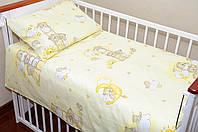 Детское постельное белье в кроватку из 3-ед- беж. мишки