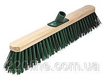 Щітка промислова ГОСПОДАР 500х75х150 мм ПЕ+ПВХ дерев'яна з пластиковим кріпленням без ручки 14-6413