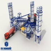 Бетоносмесительная установка производительностью 80 м/ч ГОСТ 27338-93/РБУ - 80