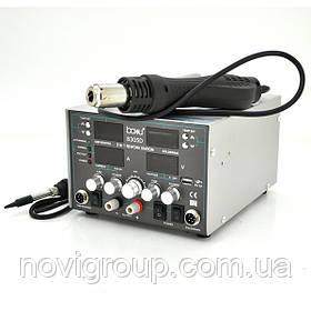 Паяльна станція BAKKU BA-8305D цифрова індикація, фен, паяльник, БЖ DC 0-30В, 5A (340*278*208) 5,1 кг