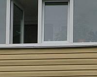 Обшивка балкона сайдингом в серии дома чешка