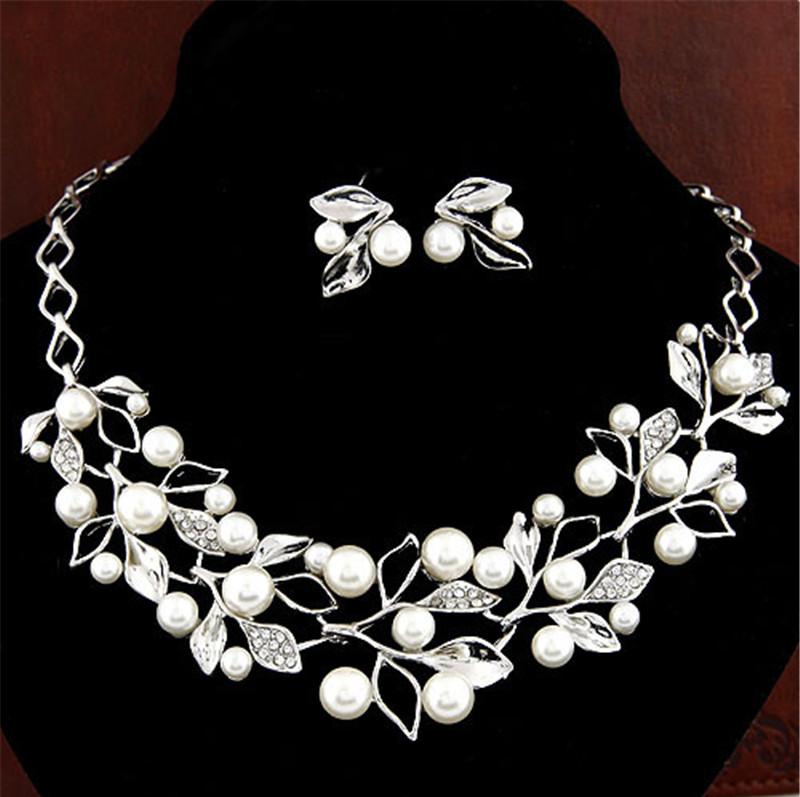 Ювелирный набор украшений ожерелье и серьги код 126