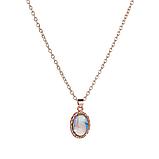 Комплект прикрас жіночий сережки, каблучку і ланцюжок з кулоном код 1743, фото 3