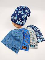 Детские польские демисезонные трикотажные шапки оптом для мальчиков, р.46-50, Ambra, фото 1