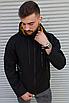Чорна чоловіча вітровка Adidas | 100% поліестер | без утеплювача, фото 3