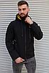 Чорна чоловіча вітровка Adidas | 100% поліестер | без утеплювача, фото 5