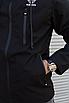 Чорна чоловіча вітровка Adidas | 100% поліестер | без утеплювача, фото 7
