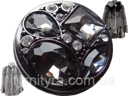 Шубная пуговица 38mm, black, №033