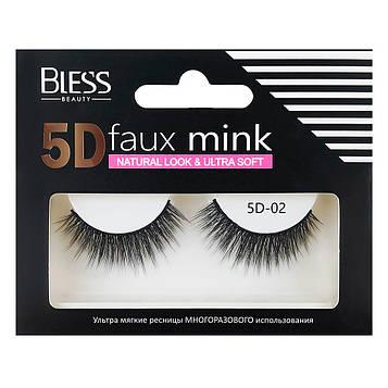 Накладные ресницы Bless Beauty 5D Faux Mink 5D-02