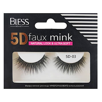 Накладные ресницы Bless Beauty 5D Faux Mink 5D-03
