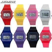 Спортивные электронные наручные часы с секундомером, будильником и подсветкой Ernstes Kind Black, фото 3