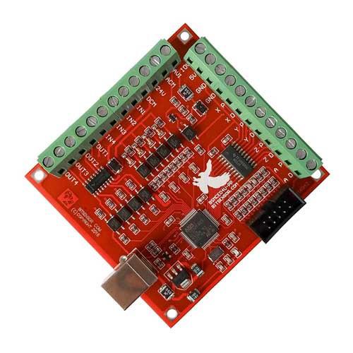 4-осевой контроллер шаговых двигателей ЧПУ, 100кГц