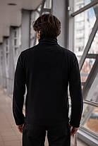Чоловіча кофта флісова на бліскавці чорна Intruder, фото 3