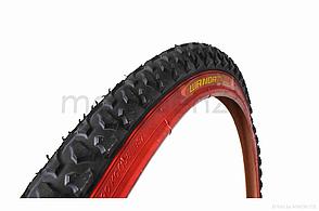 Велосипедна шина 26 * 2,125  червоний борт