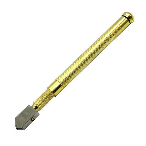 Стеклорез масляный роликовый с металлической ручкой 16см PMT-059