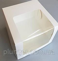 Коробка картонна для торта, 25 см х 25 см х 15 см (25Т) біла