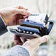 """Мужской бумажник с блокировкой многофункциональный """"Mini Safe Alu"""" от французского бренда Ogon Designs, фото 5"""