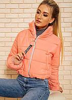 Куртка-пуховик короткая SRT персиковая S-XL