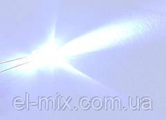 Світлодіод d5мм 12V білий прозорий LED5040