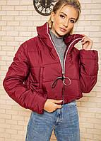 Куртка-пуховик коротка SRT бордо M-XL
