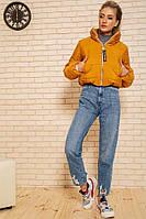 Куртка-пуховик короткая SRT желтая M-XL