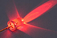 Светодиод  d5мм 12V красный прозрачный LED5041