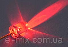 Світлодіод d5мм 12V червоний прозорий LED5041