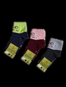 Шкарпетки дитячі для дівчаток бавовна стрейч Україна розмір 20. Від 6 пар по 7,50 грн