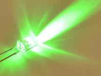 Светодиод  d5мм 12V зеленый прозрачный LED5042, фото 1