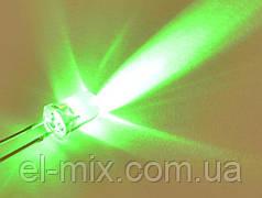 Світлодіод d5мм 12V зелений прозорий LED5042