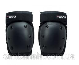 Наколінники для катання на роликах Feiyu Professional, чорні