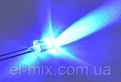Светодиод  d5мм 12V синий прозрачный LED5043