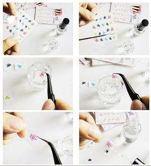 """Наклейка на ногти, наклейка для ногтей, ногтевой дизайн """" цветы"""" 20 шт набор, фото 2"""
