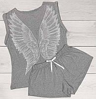 Піжама молодіжна футболка і шорти з аплікацією крила.