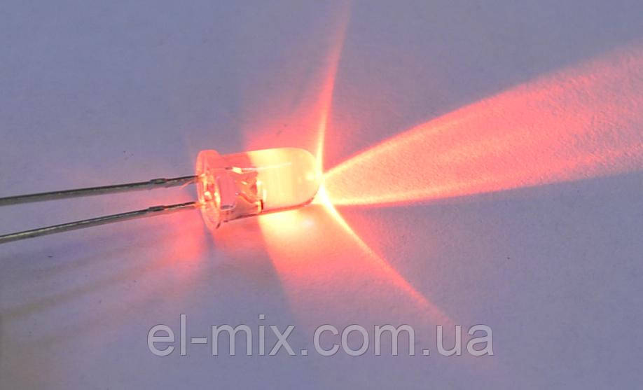 Светодиод  d5мм 12V оранжевый прозрачный LED5045