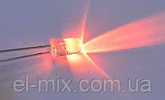 Світлодіод 12V d5мм миготливий червоний прозорий LED5102