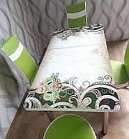 Стеклянный стол и 4 стульев. Обеденный Комплект . Без передоплат. Турция.