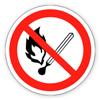 Знак «Забороняється користуватися відкритим вогнем».