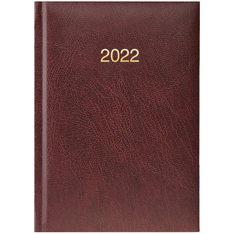 Ежедневник датированный BRUNNEN 2022 карманный Miradur бордовый