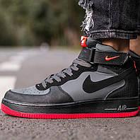 Мужские кроссовки Nike Air Force 1 Mid ´07 Hot Lava, nike air force high, найк аир форс 1 мид