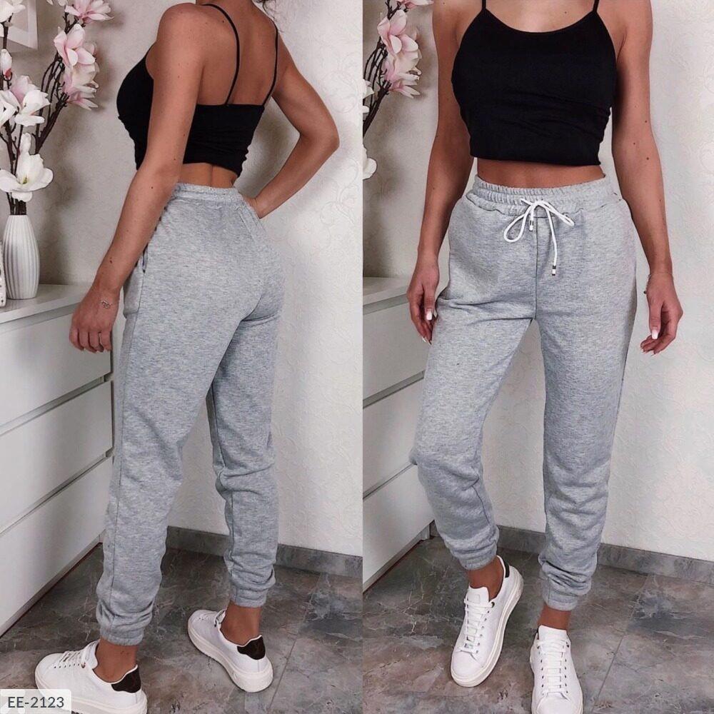 Спортивні жіночі штани зі шнурком (Батал)
